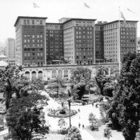 The Biltmore Hotel from Pershing Square, undated | Security Pacific National Bank Collection, LAPL