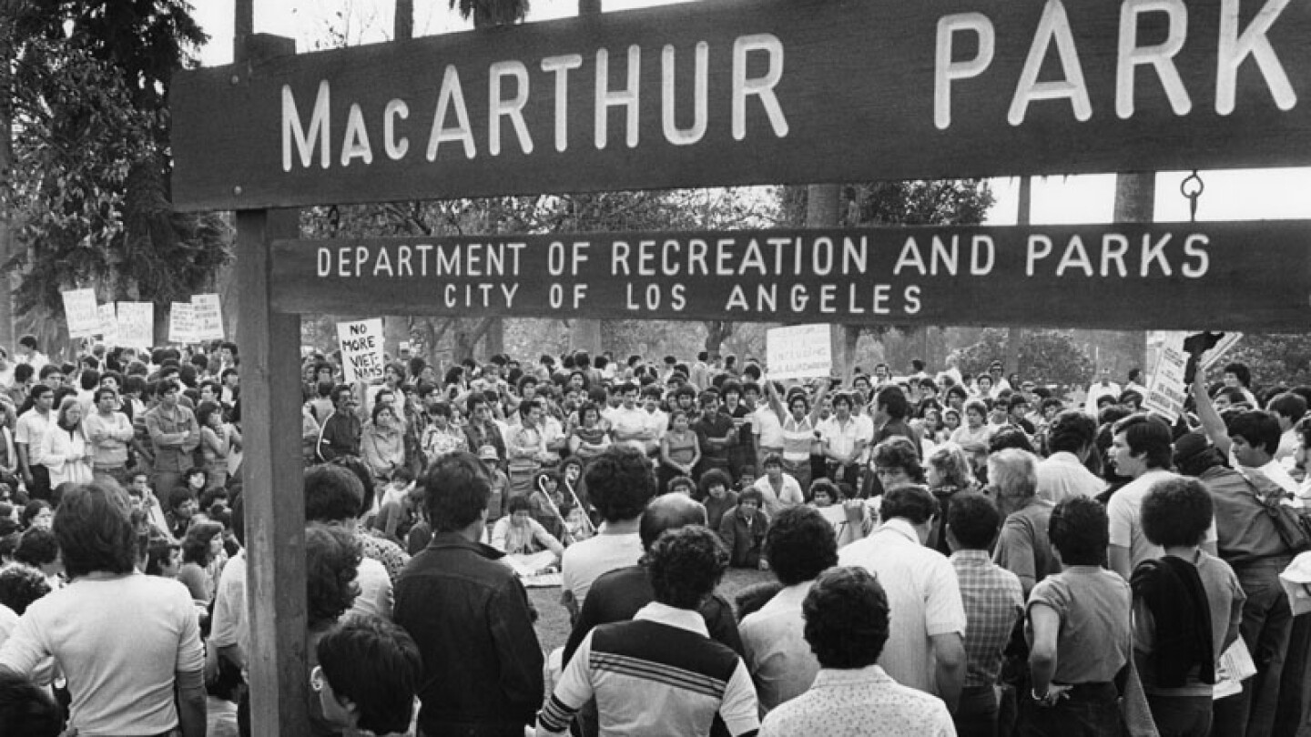 Protest in the park, 1981