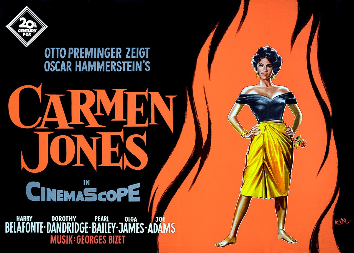 "Film poster for ""Carmen Jones,"" 1954, 33 x 46"" 