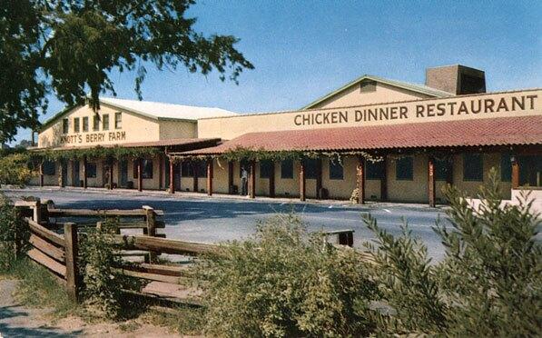 Mrs. Knott's Chicken Dinner Restaurant, circa 1955. Courtesy of the Orange County Archives.
