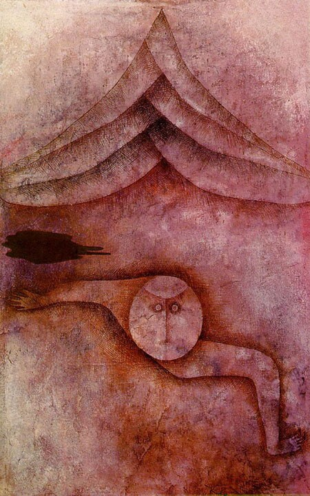 """Above: Paul Klee's painting """"Refuge,"""" 1930."""