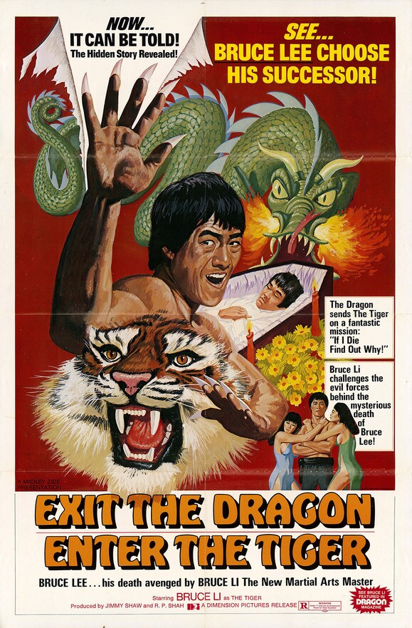 "American poster for ""Exit the Dragon, Enter the Tiger"" (1976) 