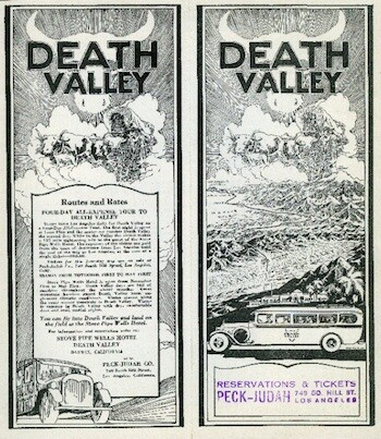 As early as the 1920s (as seen with this brochure), Los Angeles tourists helped propel Death Valley into a major destination. | Photo: Courtesy of Special Collections, Honnold/Mudd Library, The Claremont Colleges