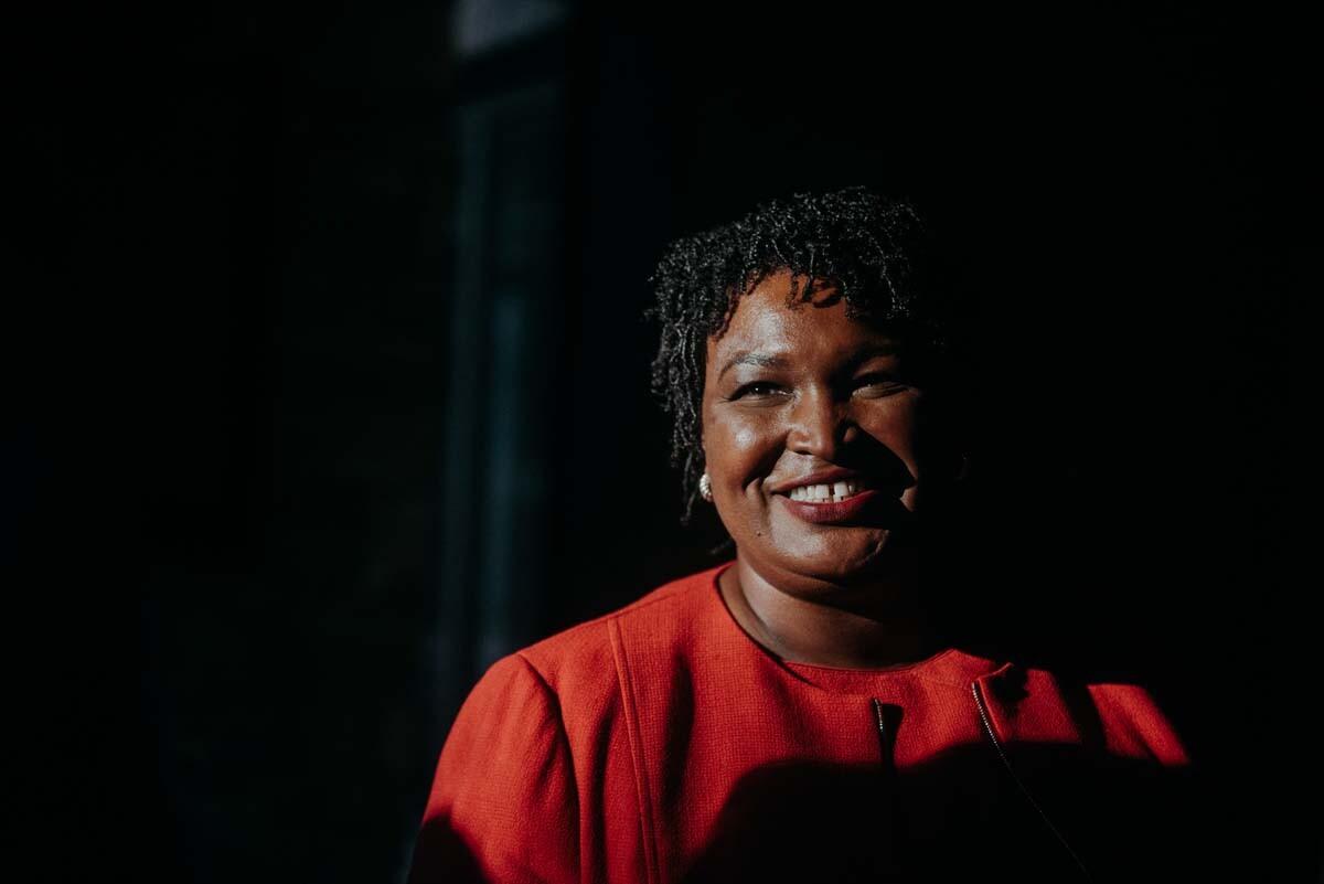 Stacey Abrams, during her 2018 gubernatorial campaign in Georgia. | Kevin Lowery