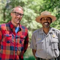 Me and National Parks Ranger Shelton Johnson