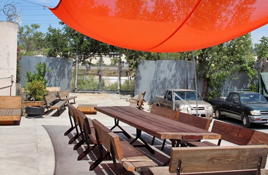 RAC Patio leads out to the L.A. River bike/walking path