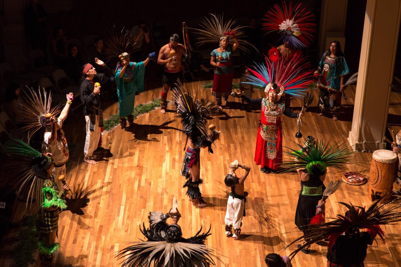 Performers at UCR ARTSblock's 2015 Indigenous  Choreographers of Riverside event