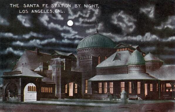 La Grande Station. Loyola Marymount University Library / Werner von Boltenstern Postcard Collection