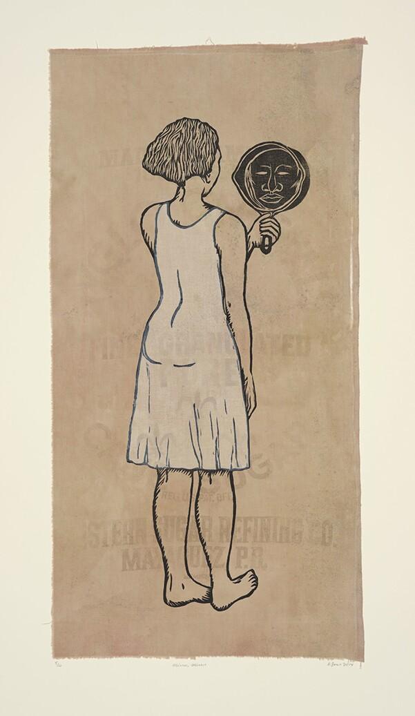 """Mirror, Mirror; Mulatta Seeking Inner Negress,"" edition 8/10, Alison Saar, 2014 | Jordan Schnitzer Collection"