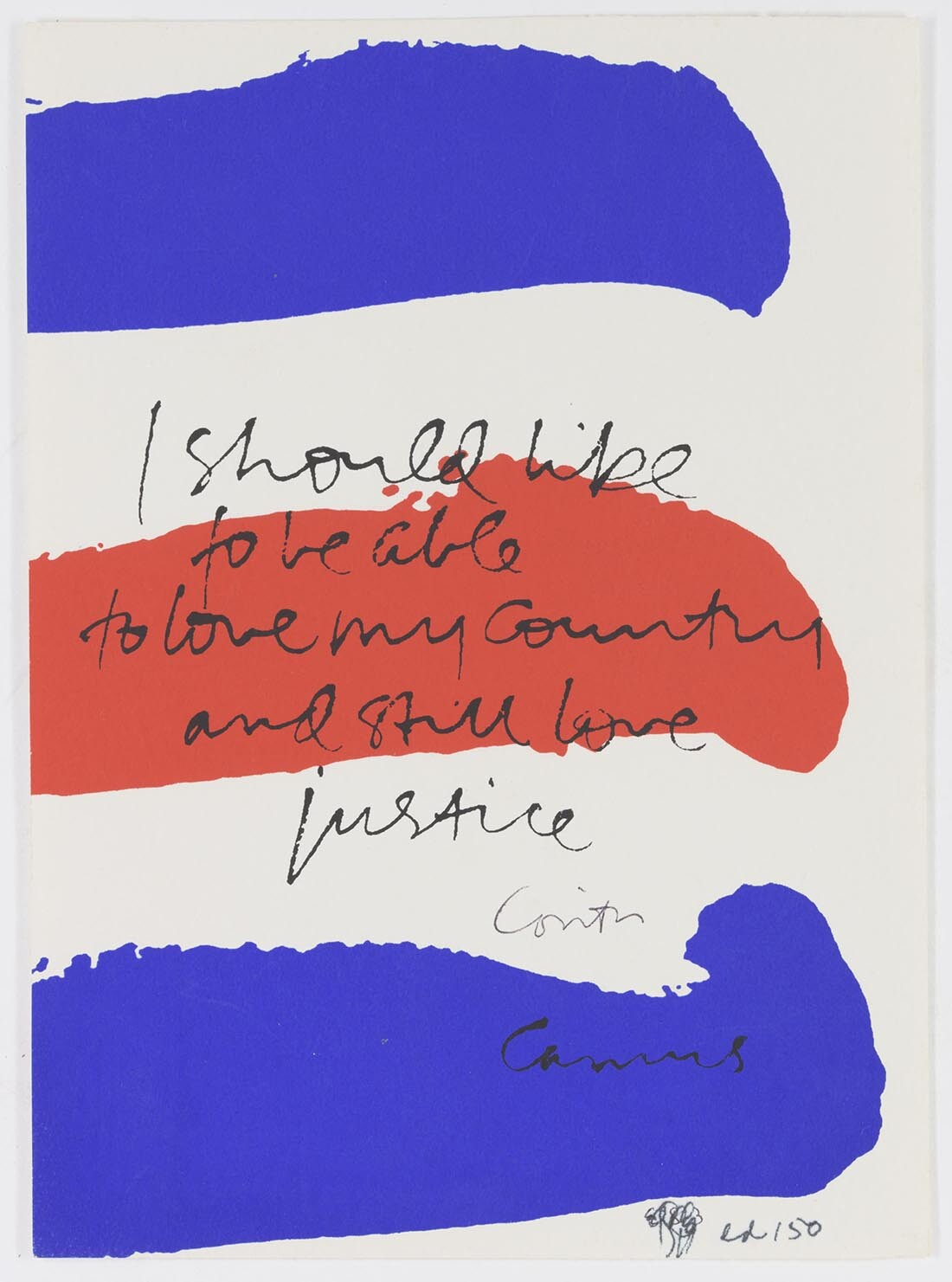 my country, 1981 | Collection UCLA Grunwald Center for the Graphic Arts, Hammer Museum. Corita Kent Bequest.