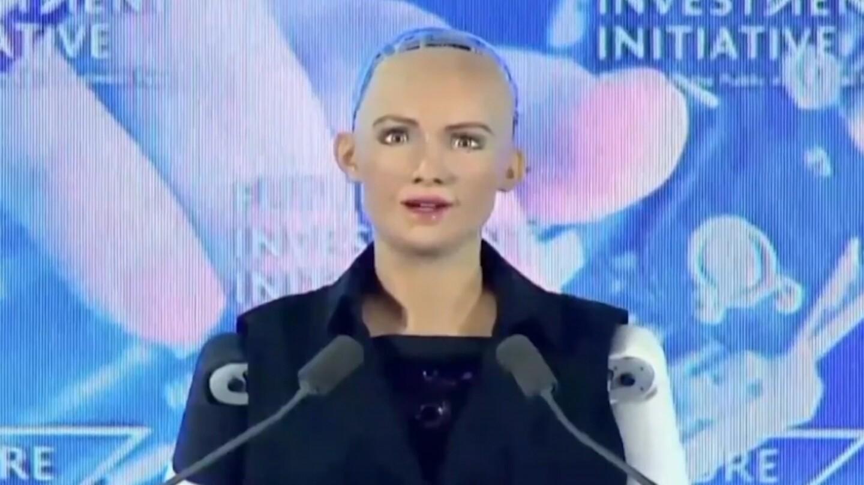 Sophia, a Saudi Arabian robot citizen.