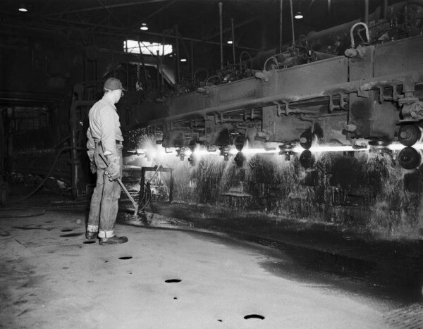 During World War II, Henry Kaiser opened a steelmaking plant in Fontana. Much of Kaiser's iron ore came from Eagle Mountain, adjacent to present-day Joshua Tree National Park. 1952 photo courtesy of the USC Libraries - Los Angeles Examiner Collection