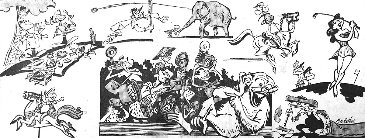 """""""Mr. and Mrs. Los Angeles, their children and their relatives, move en masse in mammoth Griffith Park on week ends."""" 