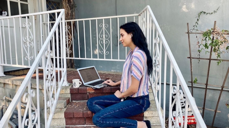 Karlie Blair coding | Courtesy of Karlie Blair