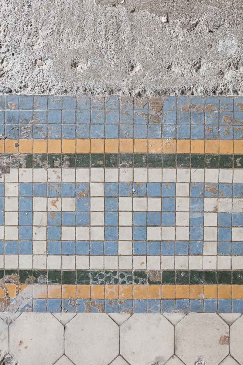Detail of tile work at the Main Museum of Los Angeles