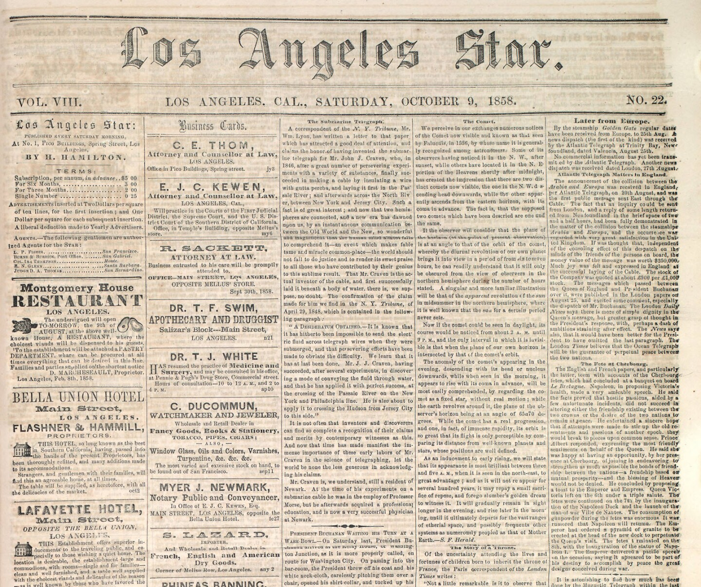 This edition of the Los Angeles Star helped researchers rediscover a rare Southland hurricane that time had forgotten.