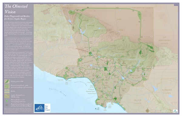 The classic 1930 Olmsted Report Parks, Playgrounds and Beaches for the Los Angeles Region<br />