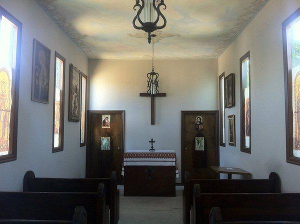 Alpine Village chapel interior