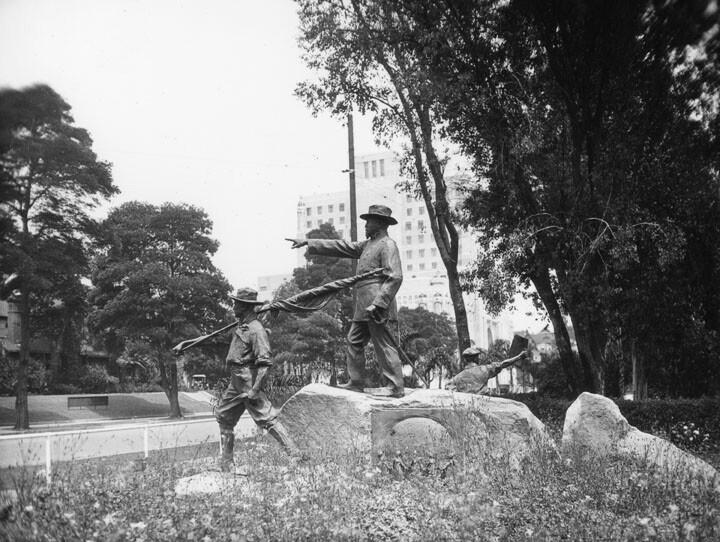 Otis sculptural group (side view)