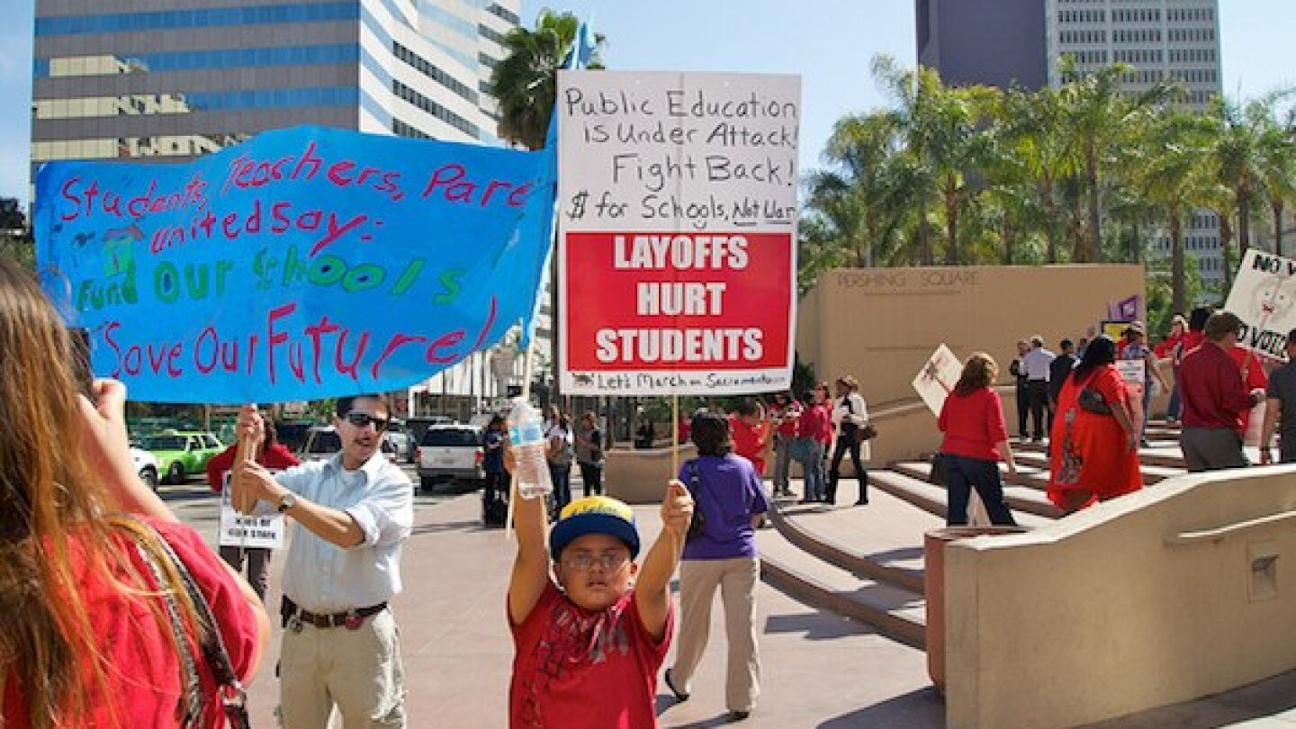 At a UTLA protest in May 2011