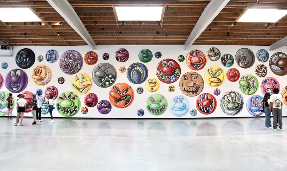 "Installation photo of ""MOODZ"" by Kenny Scharf, on view at Jeffrey Deitch gallery 