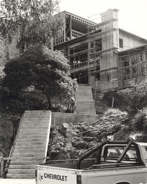 Stearns Hall under construction