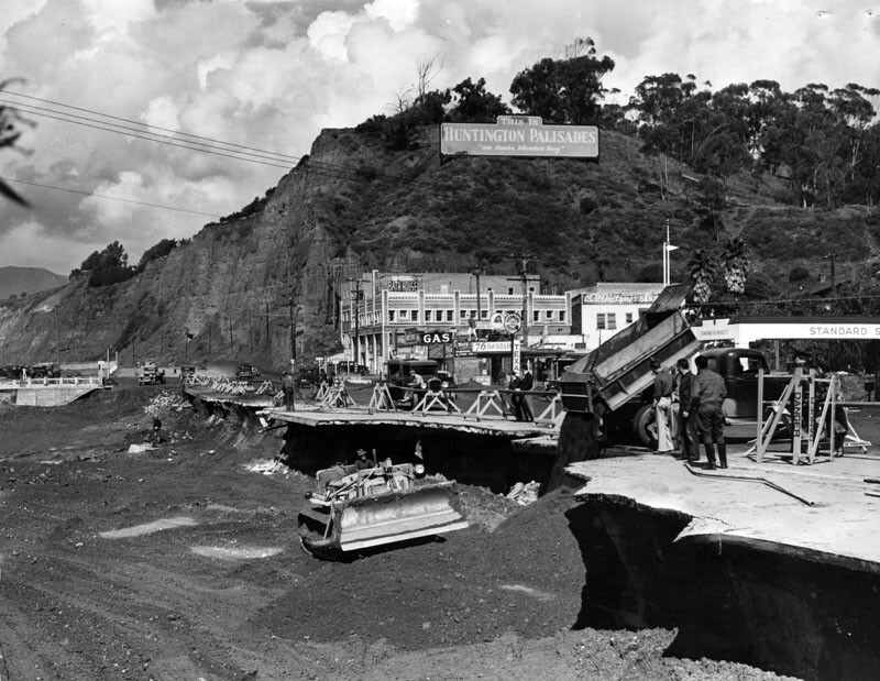 Roosevelt Highway after the flood of 1938