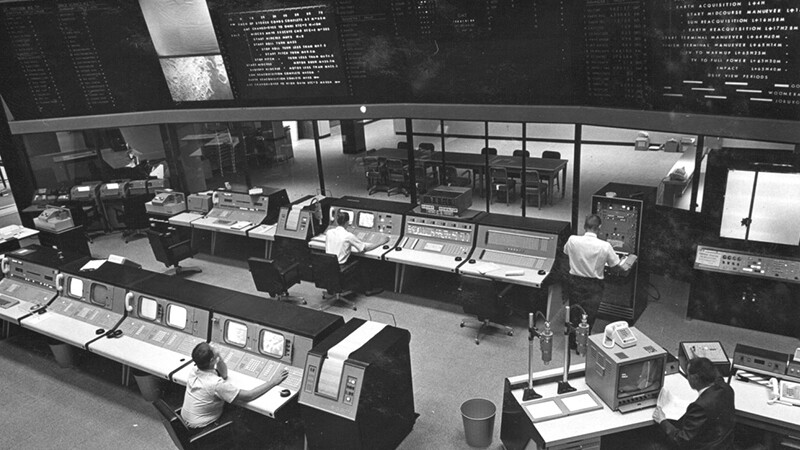 NASA's Deep Space Network Space Flight Operations Facility in 1964.
