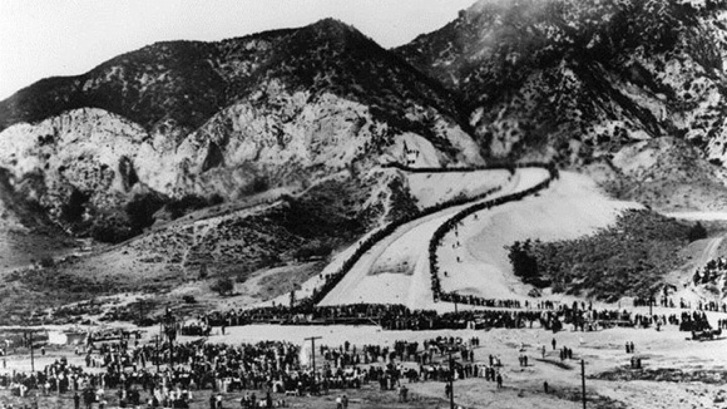 Terminus of Los Angeles Aqueduct in Sylmar, California, also known as the Cascades.