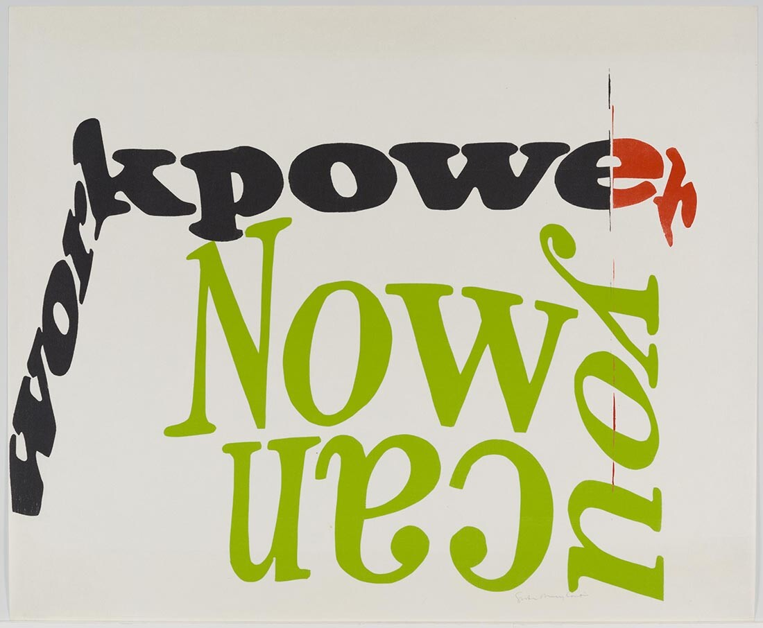 now you can, 1966|Collection UCLA Grunwald Center for the Graphic Arts, Hammer Museum. Corita Kent Bequest.