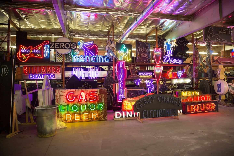 Artist Lisa Schulte's neon studio