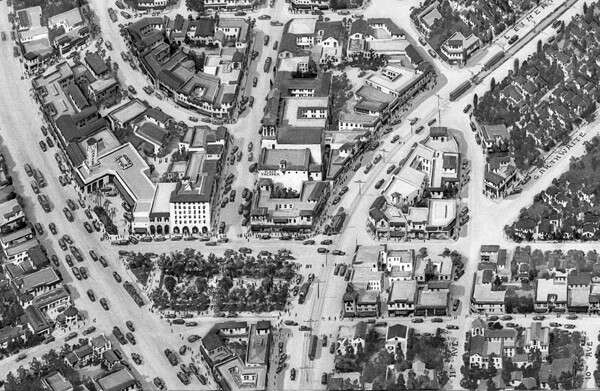 Detail of relief map of Leimert Park, 1928 | Dick Whittington Studio, Courtesy of the USC Digital Library