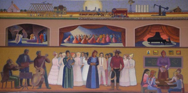 Tribute to our Heritage by Millard Sheets I Courtesy Civic Lubbock