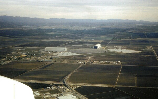 Farmland surrounds the Marine Corps Air Facility Santa Ana in 1965. Photo courtesy of the Orange County Archives.