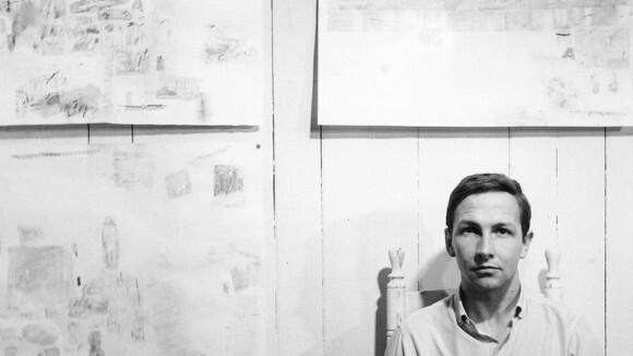 "Robert Rauschenberg. Still from Artbound episode ""MOCA: The Art of Our Time."""