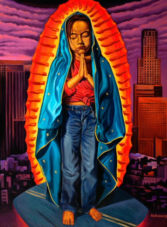 """"""" Guadalupe and Malintzin: The Virgin and the 'Traitor'"""" by Fabian Debora, 2011. 