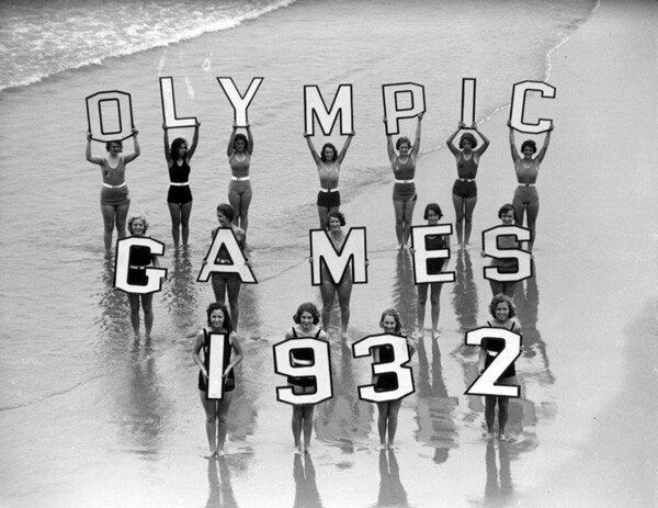 Promotional photo for the 1932 Olympic Games. Courtesy of the Los Angeles Chamber of Commerce Collection, Los Angeles Public Library.