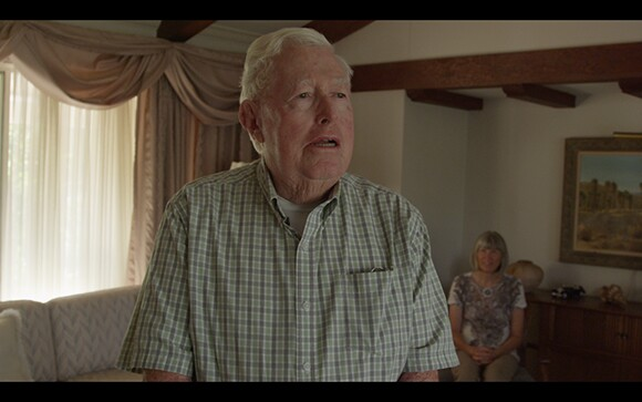 """Nicole Miller, still from video series """"Believing Is Seeing,"""" featuring Redlands residents Harold Hartwick and Diana Kriger"""