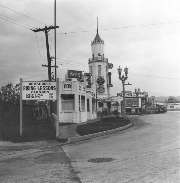 Businesses on San Vicente Boulevard