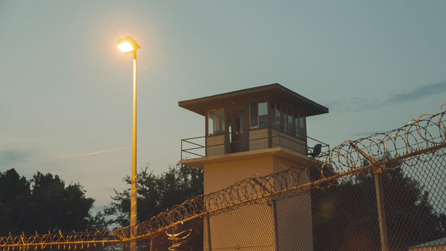 "A watchtower in the Julia Tutwiler Prison for Women in Wetumpka, Alabama. | From ""America ReFramed: Tutwiler"""