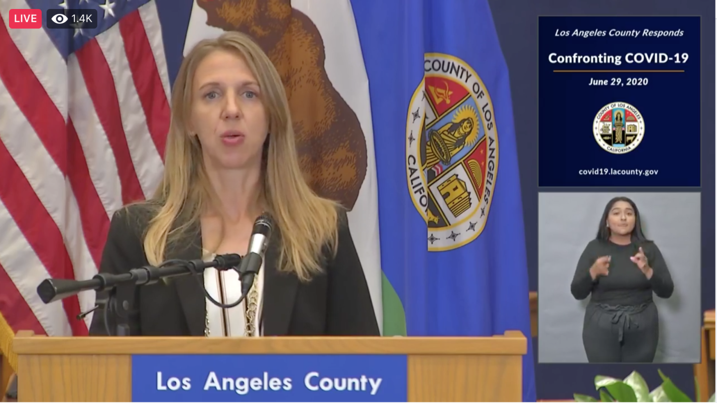 June 29 LA County COVID19 Update Woman Speaking