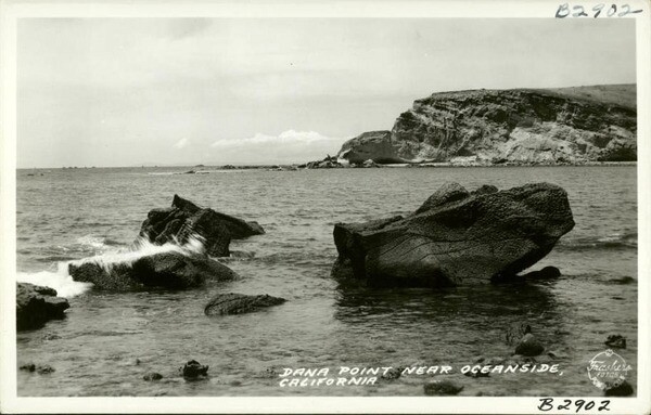 Pictured here on a calmer day circa the 1940s, Dana Cove was known to surfers as Killer Dana for the huge swells that would sometimes roll in. Courtesy of the USC Libraries - California Historical Society Collection.
