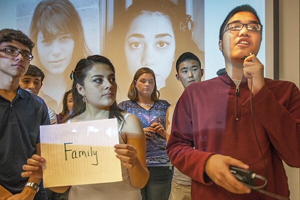 Students who find identify in their families. | Photo: Douglas McCulloh