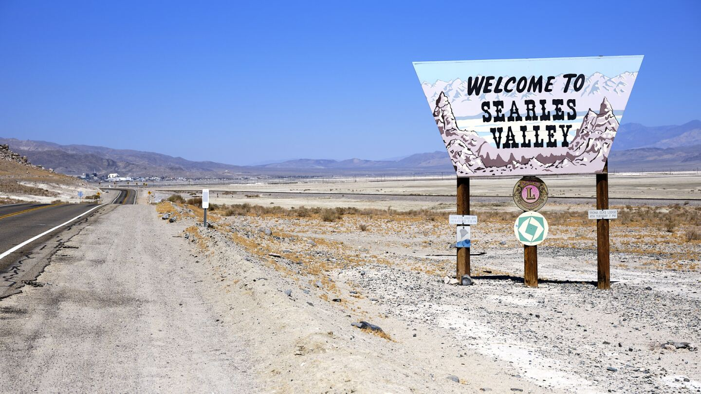 Searles Valley welcome sign. | Osceola Refetoff