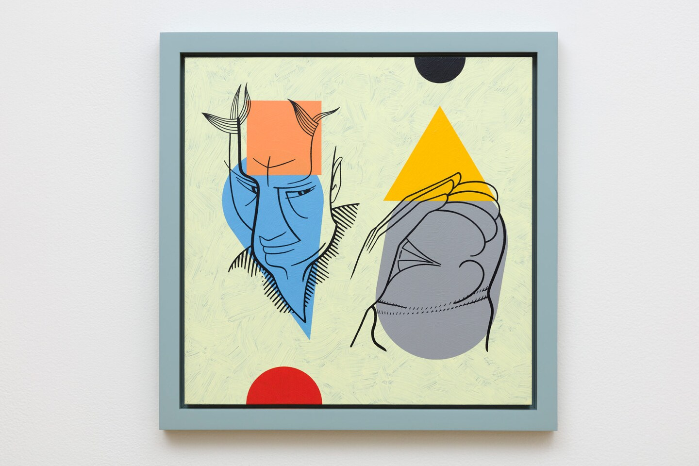 """Don Suggs """"The Same Clay,"""" 2018. Oil, acrylic and ink on plywood   © Don Suggs, Courtesy of L.A. Louver, Venice, California"""