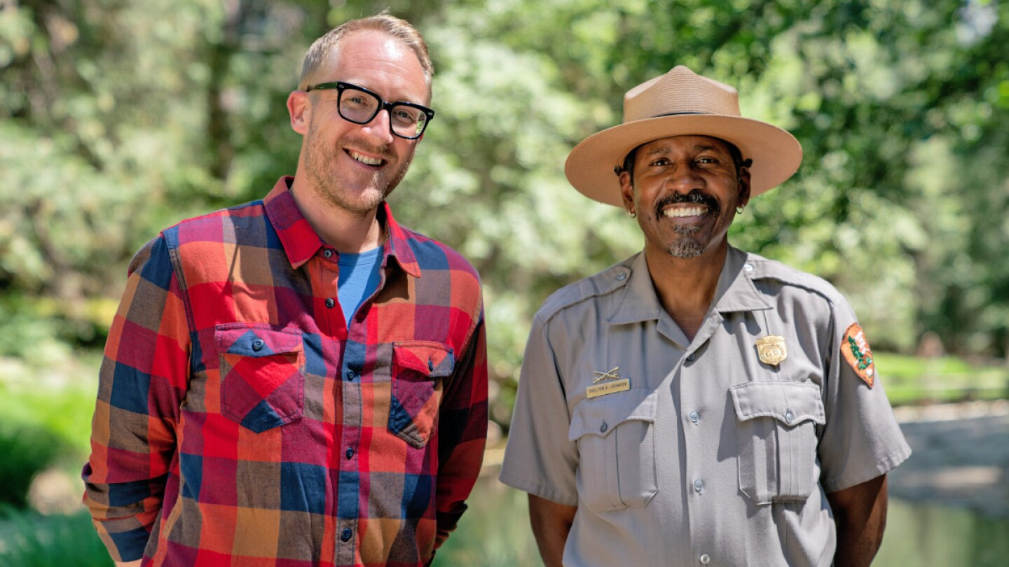 Me and National Parks Ranger Shelton Johnson