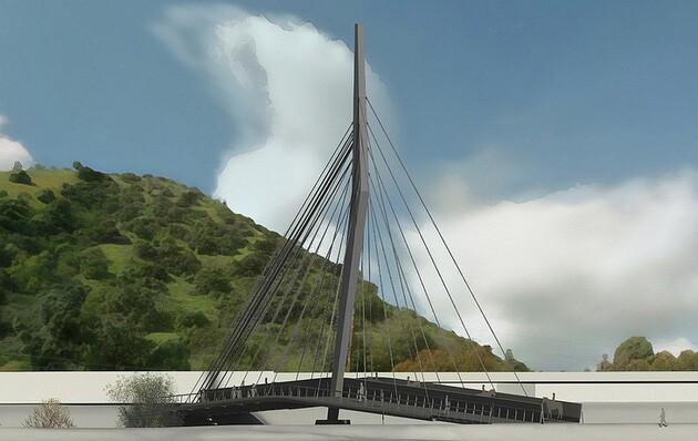 Rendering of proposed La Kretz bridge.