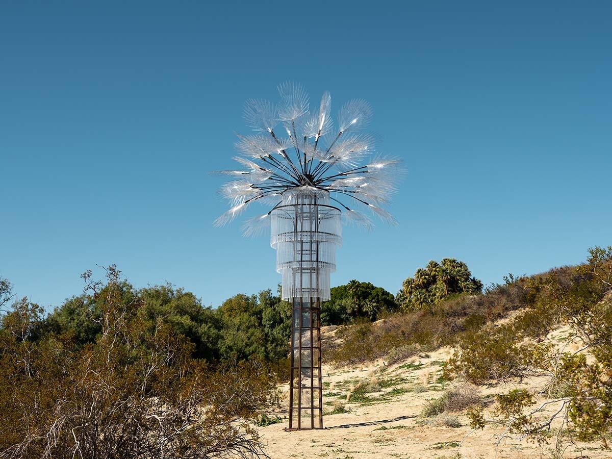 Desert X installation view, Kathleen Ryan, Ghost Palm, 2019   Lance Gerber, courtesy of Desert X