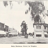 Downtown Tropico, circa 1912. From the brochure 'Glendale, California: The Jewel City,' courtesy of the Glendale Public Library's Promotional Brochures of Tropico and Early Glendale.