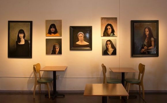 """A sampling of David Settino Scott's portraits featured in the exhibition """"Women"""" at the Steynberg Gallery in San Luis Obispo. 